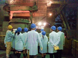 名古屋市立高校生海外派遣団の工場見学会開催